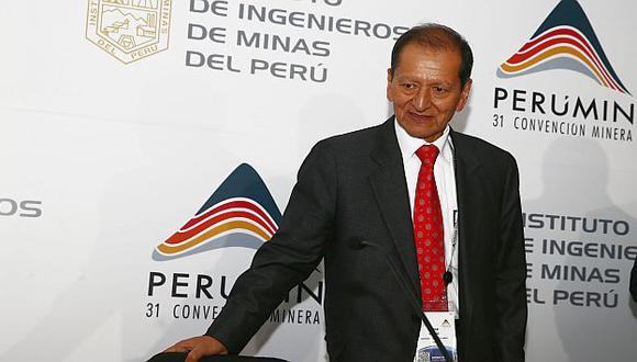 Jorge Merino ratificó la voluntad del Gobierno de apoyar las inversiones mineras. (Andina)