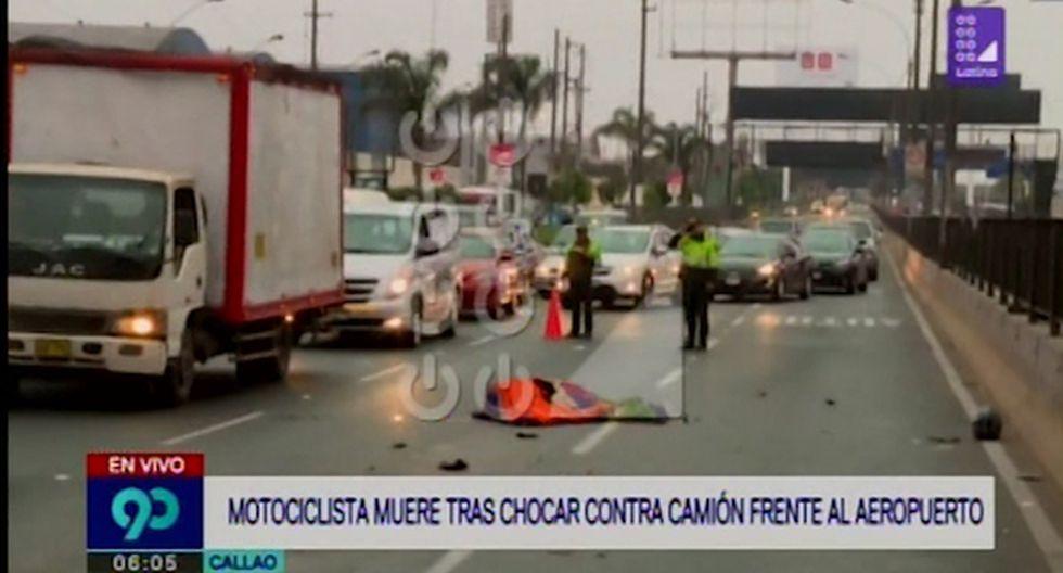 Accidente ocasionó gran congestión vehicular debido a que dos de los tres carriles con dirección de Lima hacia el Callao fueron cerrados. (Captura: Latina)