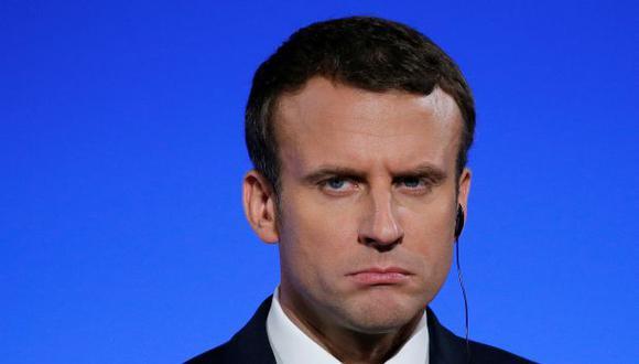 El presidente de Francia Emmanuel Macron cuenta con el 54% de apoyo según nueva encuesta (Reuters).