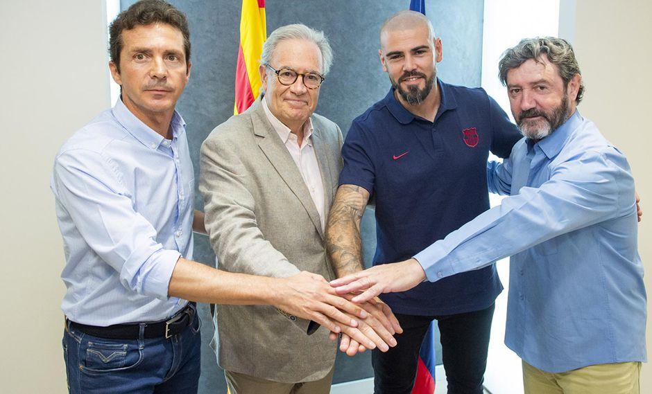 Víctor valdes fue anunciado como nuevo entrenador del Juvenil A de Barcelona. (Foto. FC Barcelona)