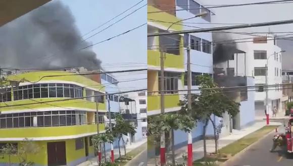 En imágenes compartidas en redes sociales se observa la intensa humareda. (Foto: Facebook/ San Juan de Lurigancho - SJL Digital)