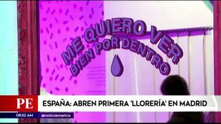 """España: Inauguran """"Llorería"""" para que jóvenes lloren y traten su salud mental"""