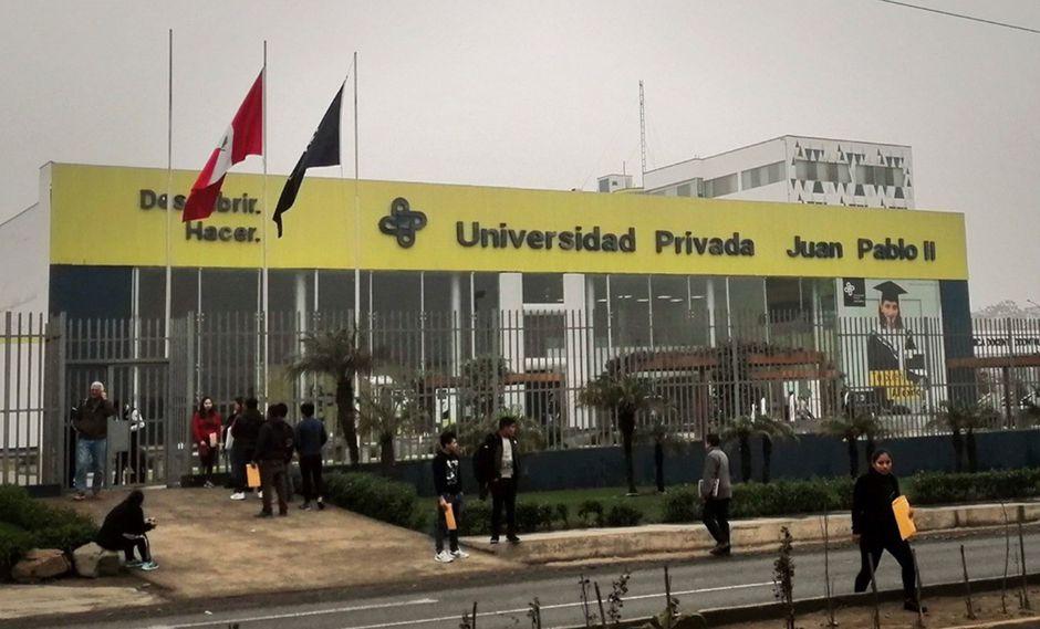 La casa de estudios está vinculada el exsecretario de Fuerza Popular general del partido Fuerza Popular, Joaquín Ramírez. (Foto: Sunedu)