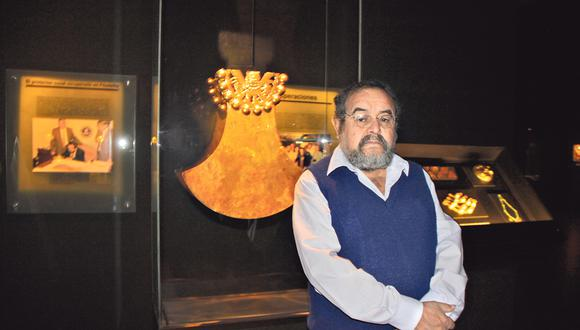 """""""El museo hoy promueve el desarrollo de los pueblos"""", señala el arqueólogo Walter Alva (Nadia Quinteros)."""