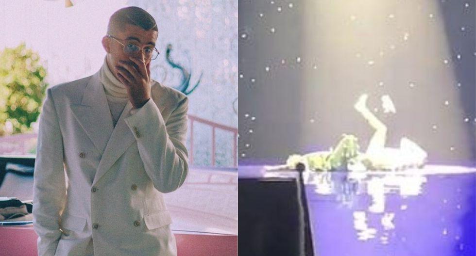 Bad Bunny recibe un 'zapatazo' en la cara tras su concierto en Puerto Rico. (Foto: Instagram/Captura de video)