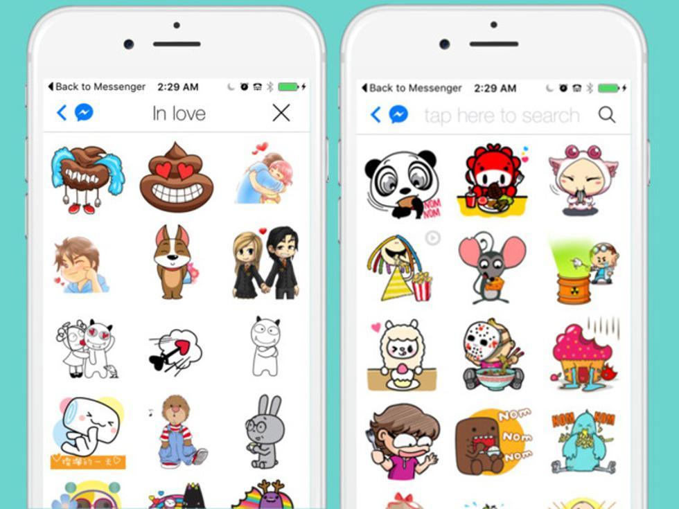 Las redes sociales y otros servicios de mensajería como Facebook Messenger incluyeron 'stickers' en su plataforma hace algunos años, pero WhatsApp era la excepción. (Messenger)