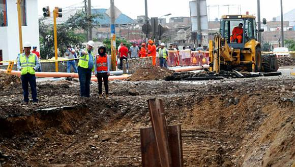 La avenida Próceres de SJL estará cerrada mientras se realicen las obras de reparación de la tubería. (Foto: GEC)