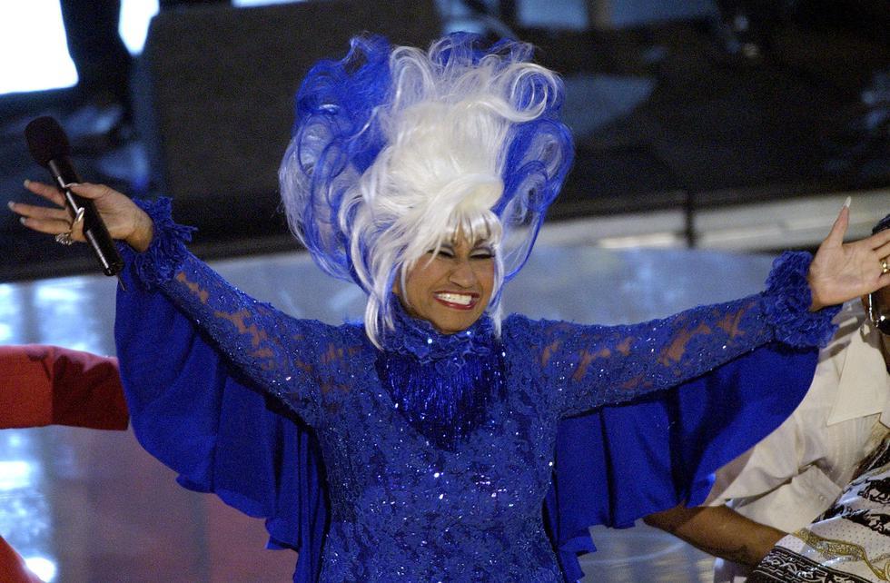 La alegría y el color que transmitía Celia Cruza era único. Aquí con su peluca más famosa. (Foto: AP)