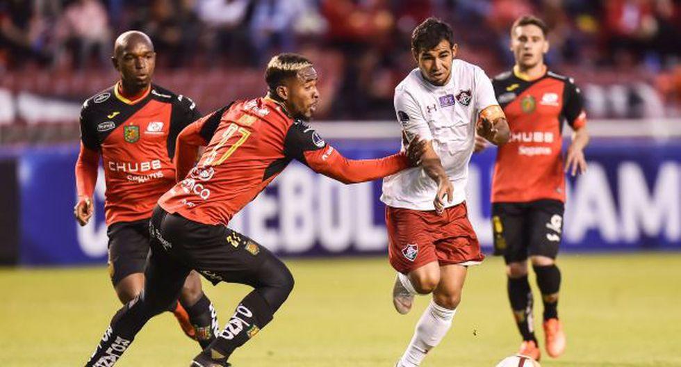 Deportivo Cuenca vs. Fluminense chocan por el pase a cuartos de final de Copa Sudamericana. (Foto: AFP)