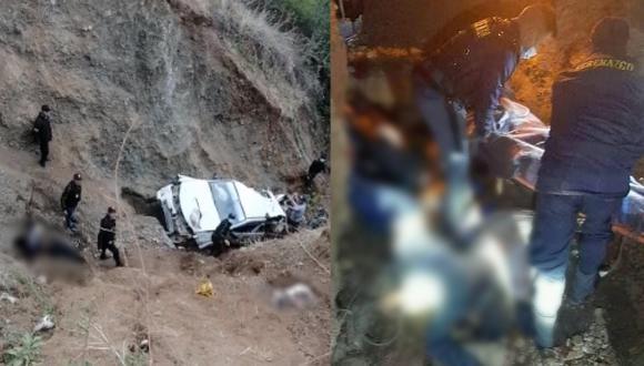 La Libertad: Siete personas fallecen tras caída de camioneta a abismo (Foto: PNP)