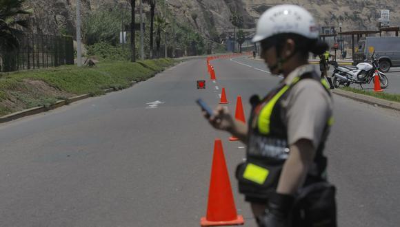 Agentes de Tránsito vigilarán que se cumpla la restricción vehicular en la Costa Verde. (Imagen referencial/GEC)