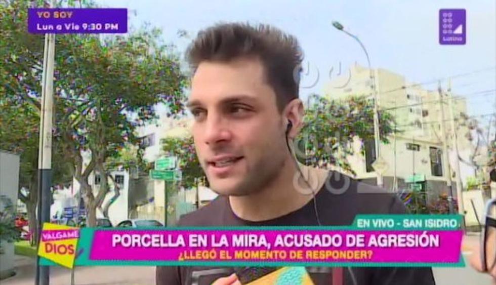 Nicola Porcella asegura que no le faltó el respeto a Angie Arizaga. (Imagen: Latina)