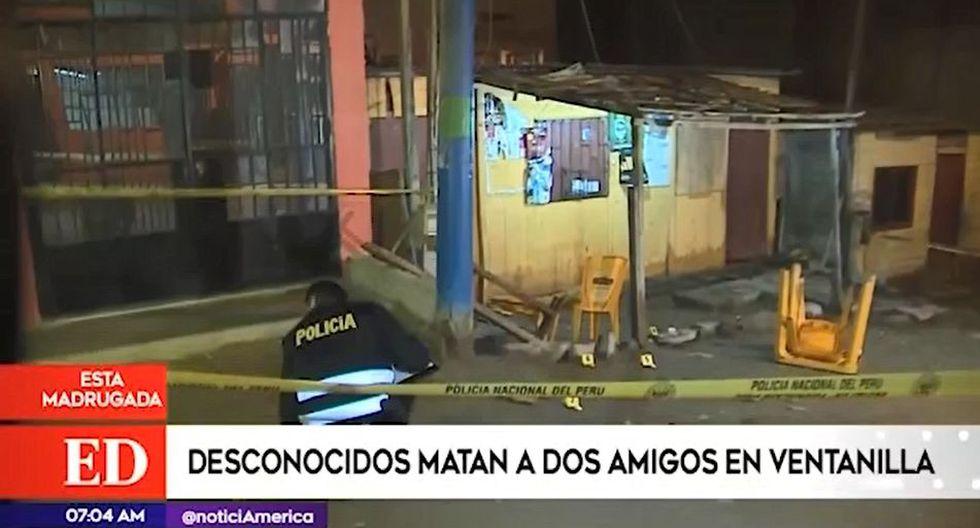 En el lugar del crimen se encontró diez casquillos de bala. (Captura: América Noticias)