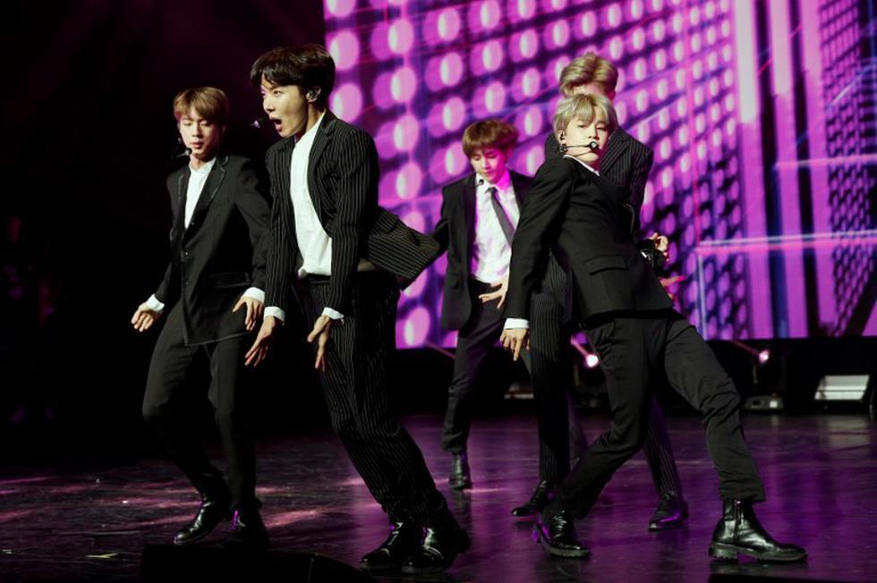 La banda surocoerana de k-pop rompió el récord mundial de cine de eventos con la película de su tour. (Foto: AFP)