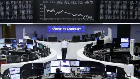 La Bolsa de Fráncfort fue la única que registró una pequeña alza. (Foto: Reuters)