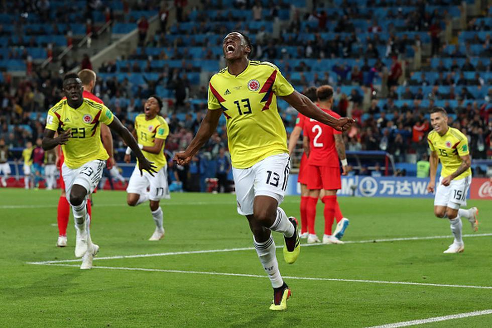 Colombia e Inglaterra disputan el último duelo de los octavos de final del Mundial (GETTY)