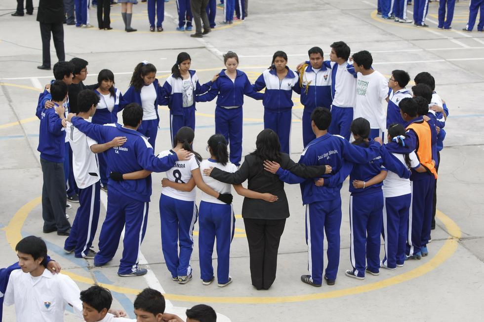 Simulacro escolar (Mario Zapata/Perú21)