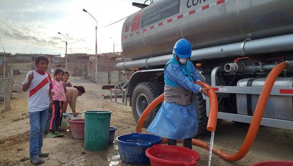 MVCS y Otass llevan agua potable gratuita a 750,000 habitantes de 10 regiones (Foto: MVCS)