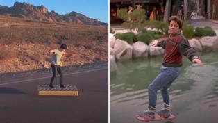 Crean patineta voladora al estilo película 'Volver al Futuro'