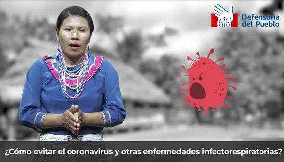 Elaboran recomendaciones para evitar contagio de coronavirus en shipibo-conibo. (Captura)