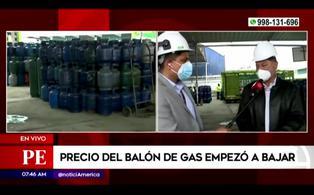 Presidente de SPGL anuncia rebaja de precio del balón de gas