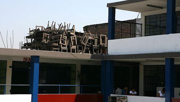 Muchos colegios iniciaron clases con serios problemas de infraestructura. (USI)
