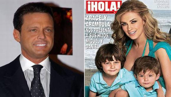 Pareja tuvo a los pequeños durante los cincos años que duró su relación. (Internet)