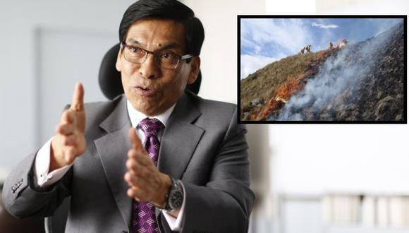 Ministro José Hernández anunció que se logró contener 37 de 43 incendios forestales. (Perú21)