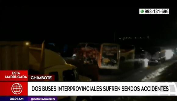 Al menos tres personas fallecieron en el accidente vehicular. (Foto captura: América Noticias)