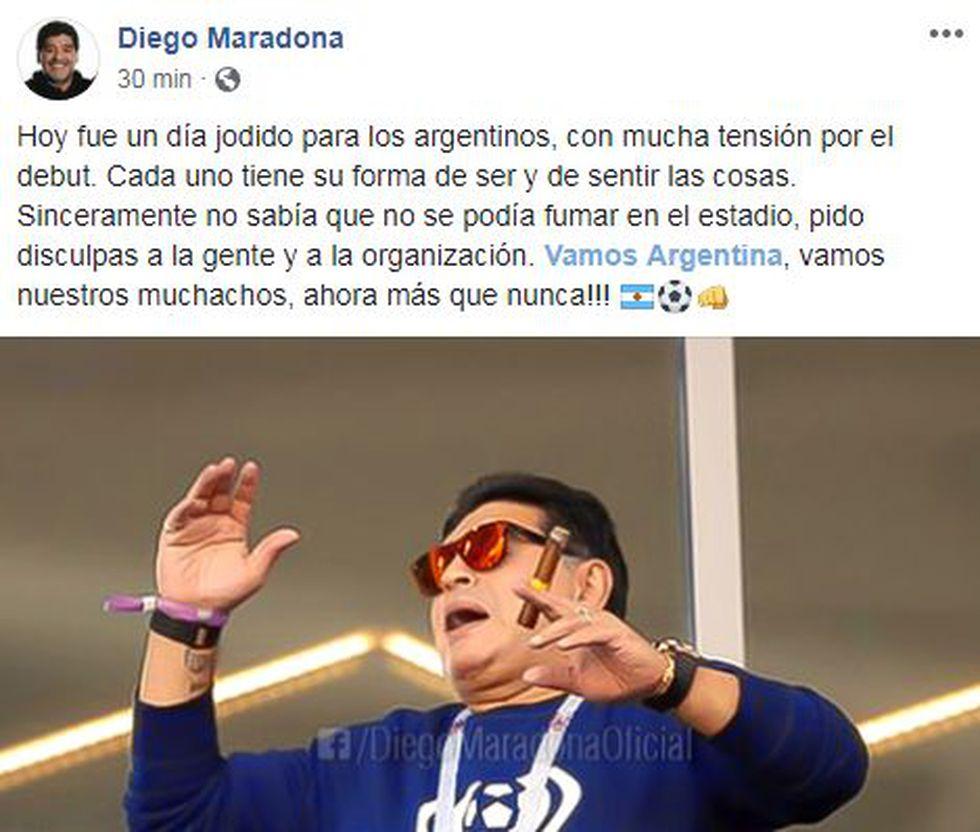 (Facebook: @DiegoMaradonaOficial)