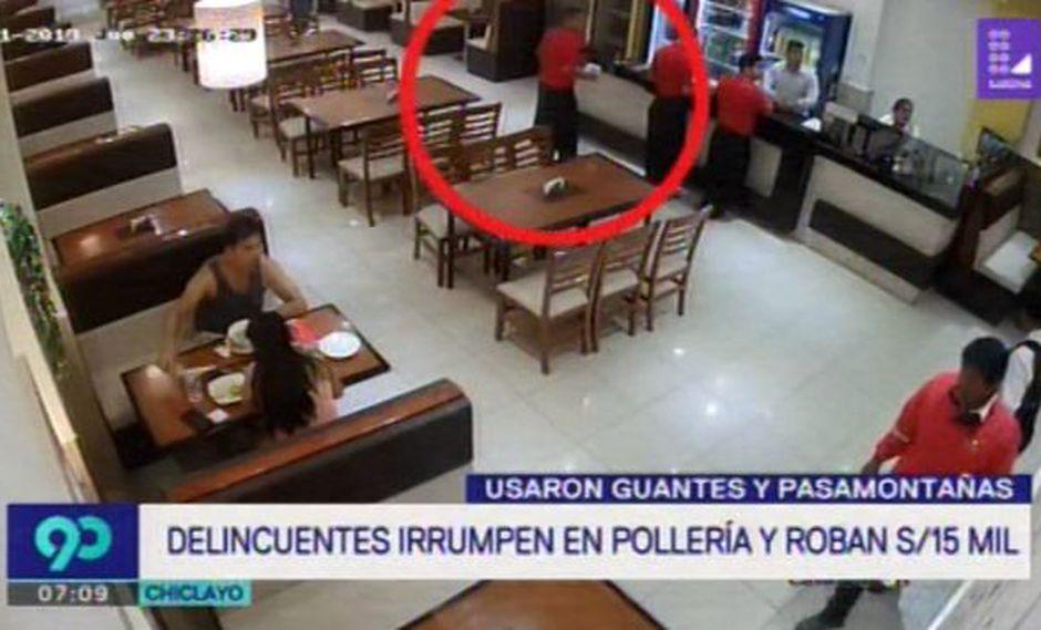 En las imágenes se observa el accionar de estos dos delincuentes, quienes para no ser identificados, usaron guantes y pasamontañas. (Foto: Latina)