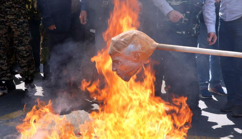 Miles marchan en Irán contra Israel y contra el plan de paz de Estados Unidos. (Foto: EFE)