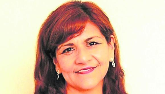 Neldy Mendoza candidata de Renovación Popular.