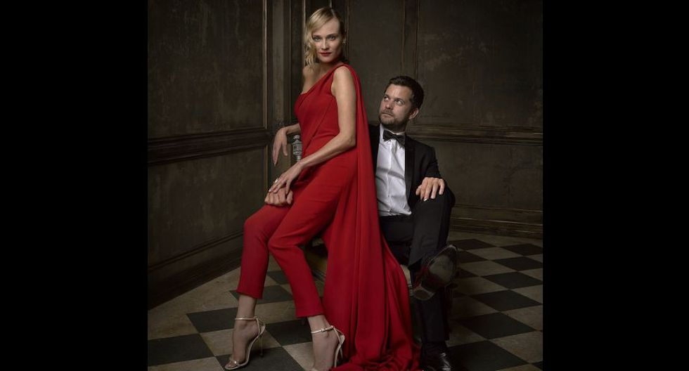 Diane Kruger y su esposo, Joshua Jackson, conocido por la serie Dawson's Creek.(Cuenta de Vanity Fair en Instagram)