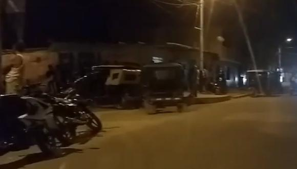 Supuesto líder de banda criminal fue acribillado cerca a su domicilio en Castilla, Piura. (Foto: Captura La Hora)