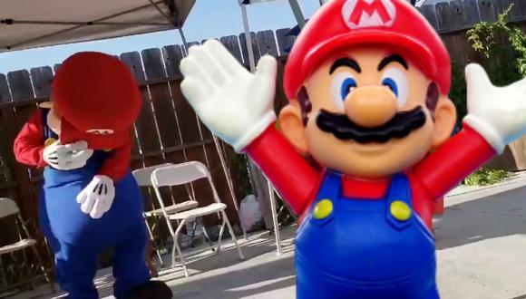 Un video viral tiene como protagonista a Mario bailando como Michael Jackson para el divertimento de unos niños. | Crédito: @jaay_cool / Twitter / Pixabay / Referencial