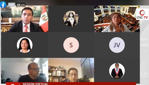 Comisión de Ética Parlamentaria no sesionará por tercera semana consecutiva. (Foto: Captura TV del Congreso)