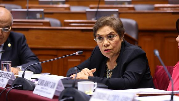 La congresista de Fuerza Popular Luz Salgado saludó la disposición al diálogo con el Ejecutivo. (Foto:  Congreso)