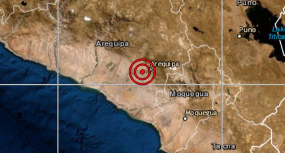 El epicentro de este movimiento telúrico se ubicó a 15 kilómetros al oeste de Arequipa, en la provincia y región del mismo nombre. (Foto: IGP)
