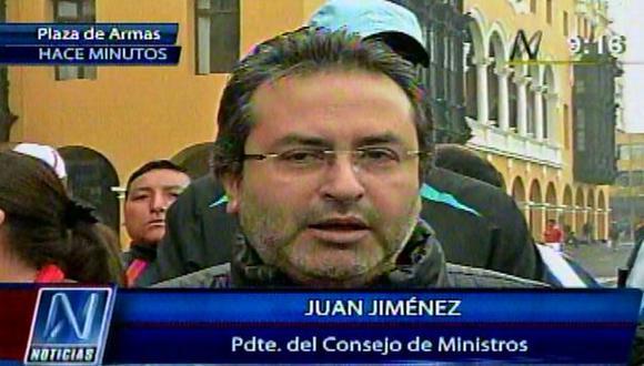 El premier Jiménez justificó caída de Humala en encuestas. (Canal N)