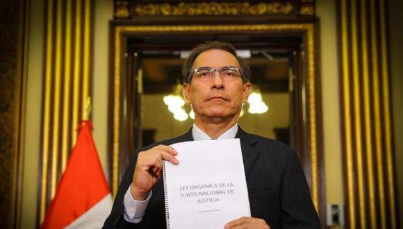 El presidente de la República, Martín Vizcarra, dijo esperar que el proyecto sea debatido en la legislatura extraordinaria. (Foto: Difusión)