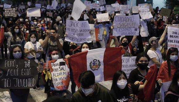 Durante las marchas de la semana pasada se produjo la muerte de Jack Bryan Pintado e Inti Sotelo. (Foto: GEC)