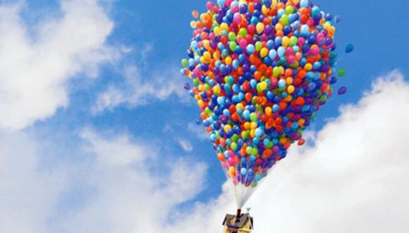 """El principal reto de """"UP"""" fue la simulación pareja de los globos (Foto: Pixar)"""