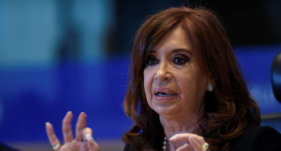 Imagen de archivo. La ex presidenta de Argentina, Cristina Kirchner, da una conferencia en Bruselas. (AFP / JOHN THYS).