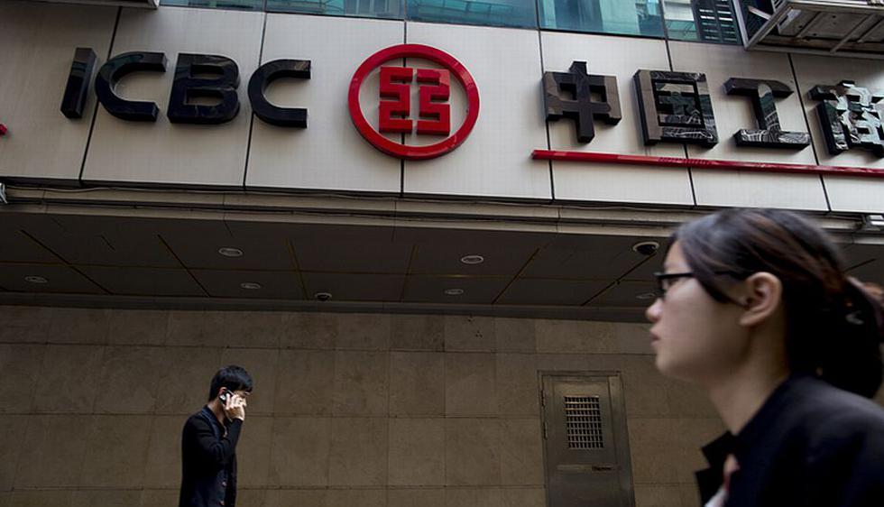 El banco ICBC de China es el primero en la lista. Tiene ventas por US$ 148,000 millones y su valor comercial se calcula en US$ 215,000 millones. (Bloomberg)
