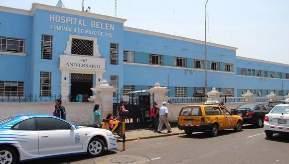 Estuvo internado en el hospital Belén, en Trujillo.