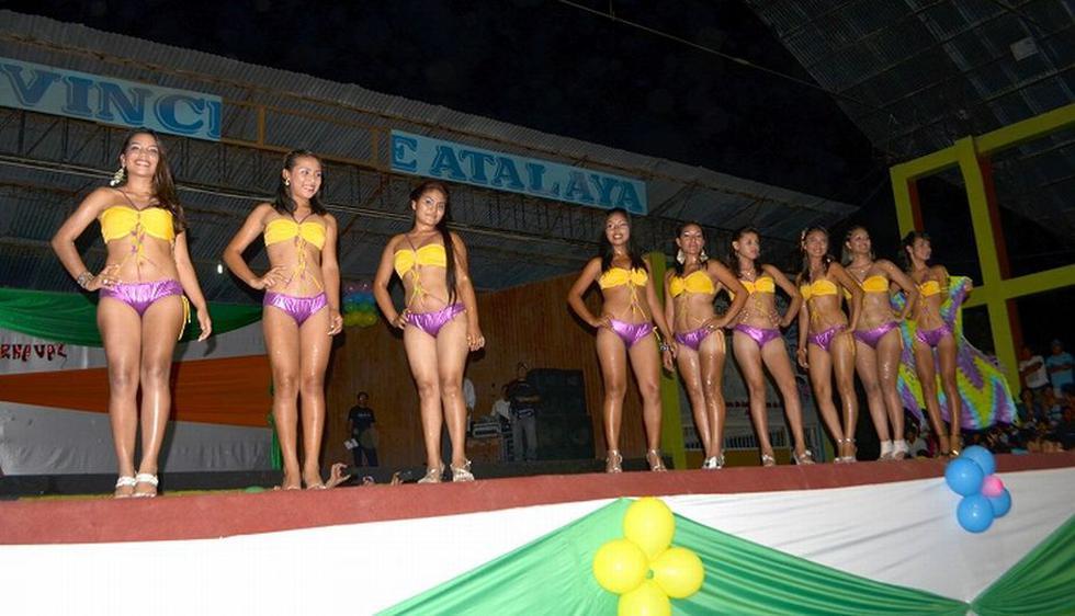 El certamen de belleza abrió el carnaval Atalaino 2013, que se realiza en la provincia de Atalaya, en el departamento de Ucayali. (Difusión)