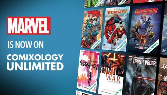 Marvel y Amazon se unen en un programa 'ilimitado' de cómics (Foto: Comixology/Amazon)