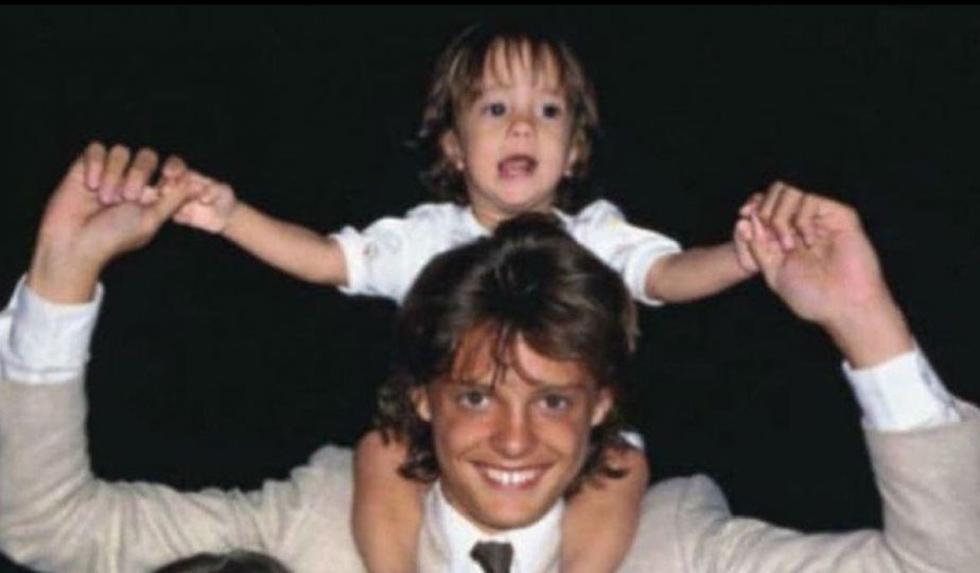 Luis Miguel junto a Sergio, cuando la familia todavía permanecía en México. (Difusión)