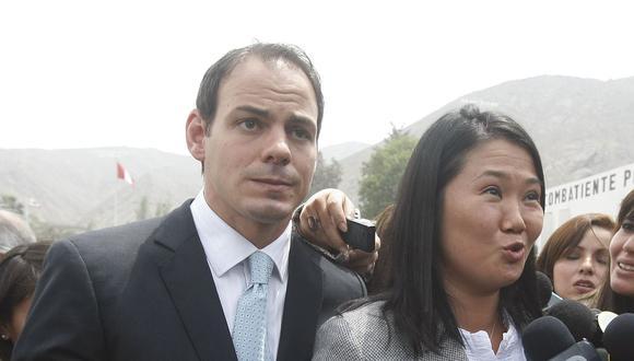 Mark Vitto Villanella, esposo de Keiko Fujimori, estuvo presente cuando la lideresa de Fuerza Popular fue detenida. (Foto: USI)